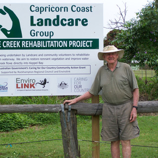 President Alby Wooler with new sign erected in 2011