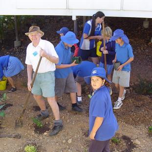 Planting a school garden