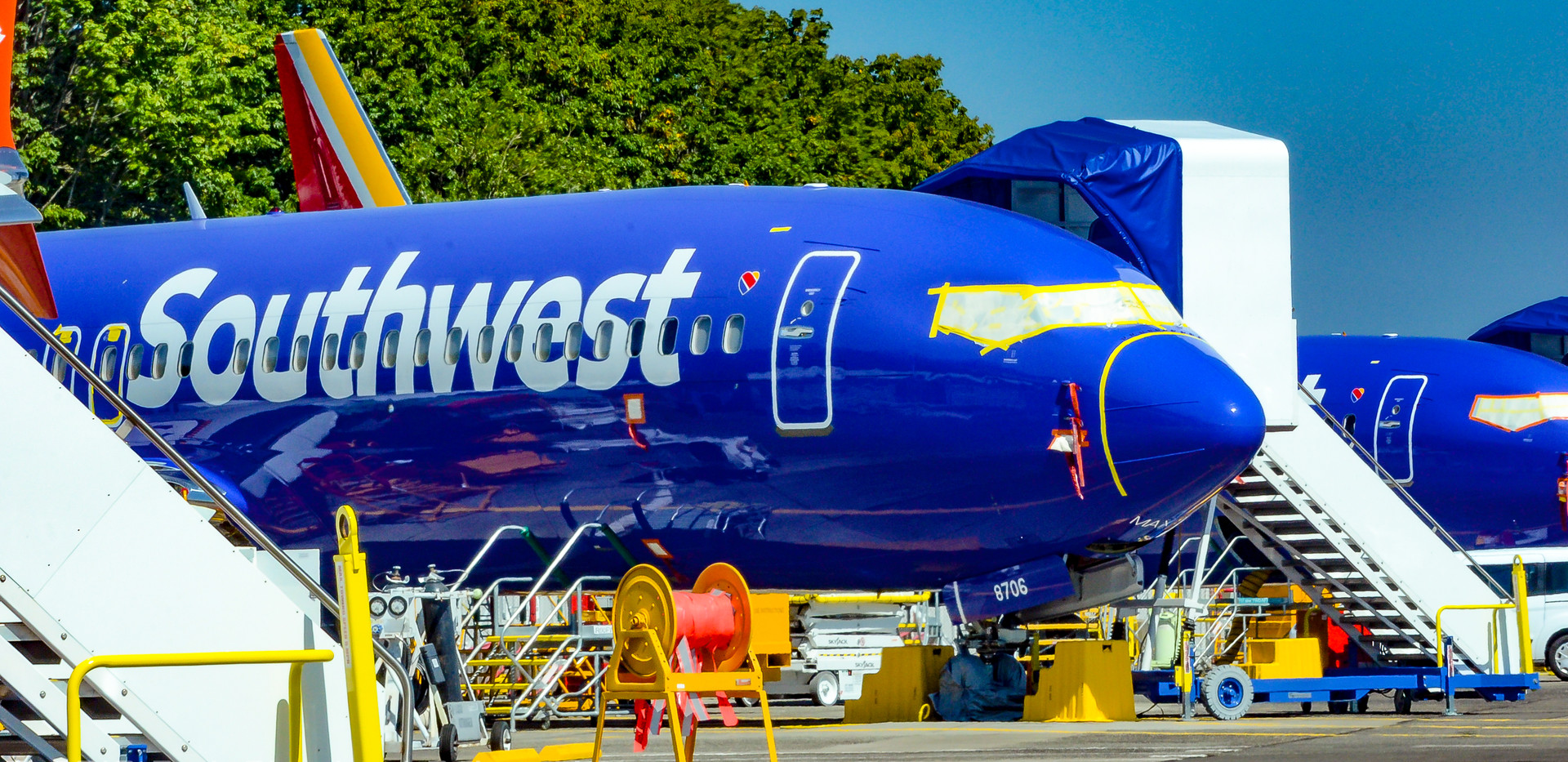 SWA 738MAX at Renton