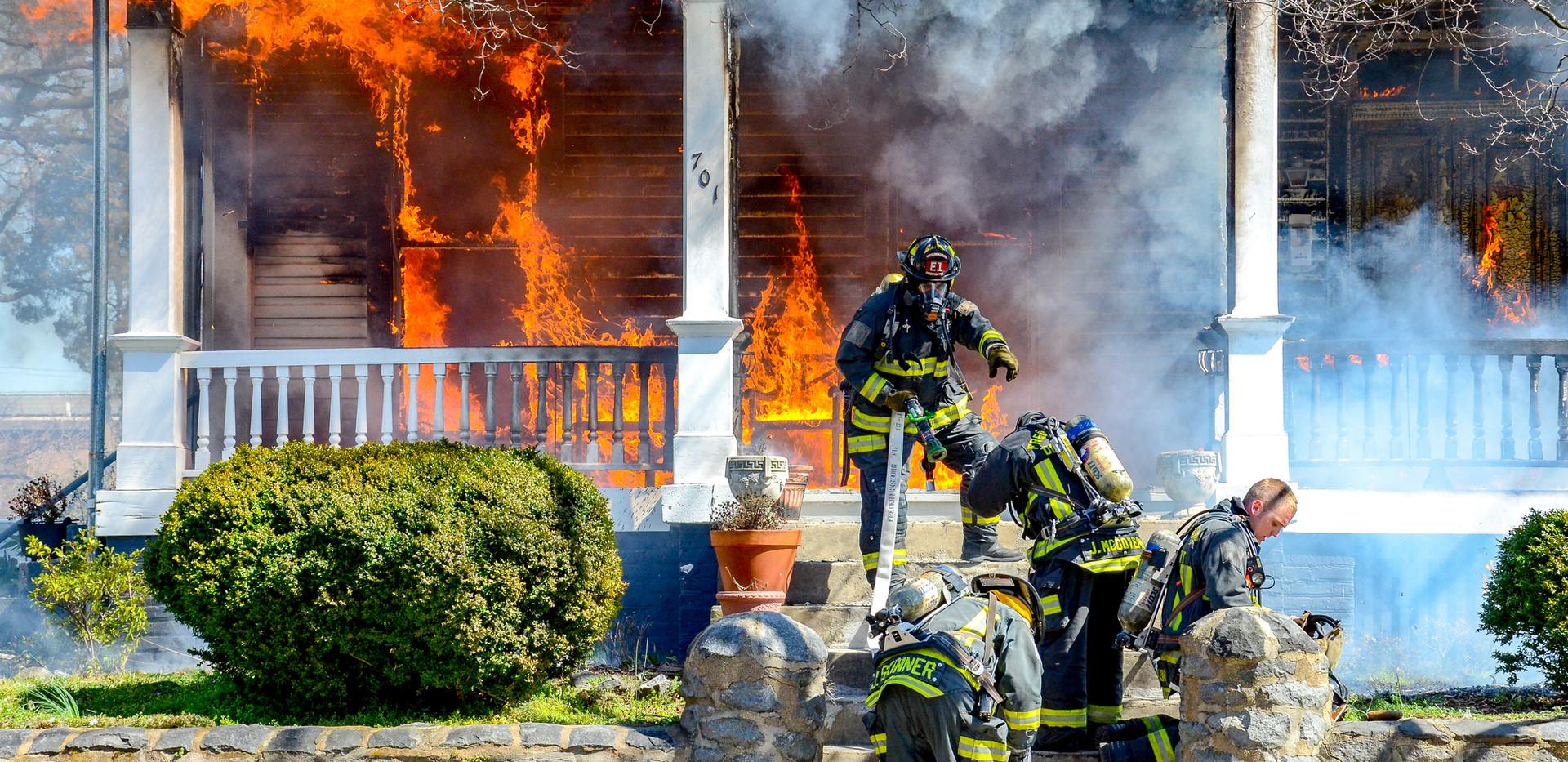 House fire, Fredericksburg, VA, 2011