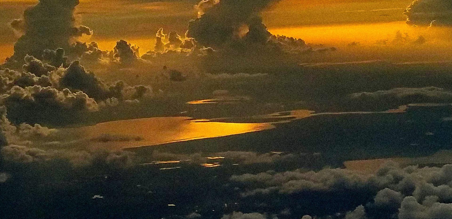 Florida skies over Orlando