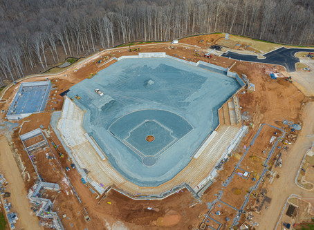 FredNats Ballpark Construction Aerial Update #10, 29 Feb 2020