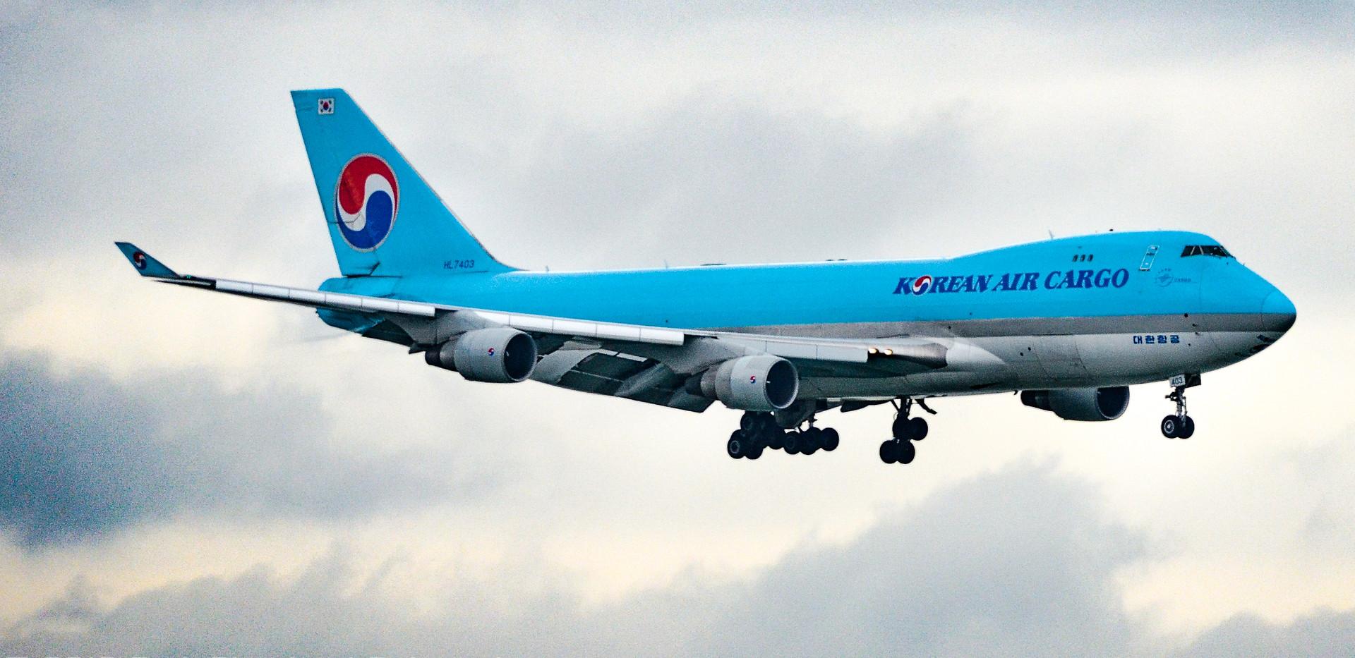Korean Air Cargo Boeing 747 Freighter HKG