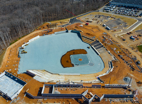 FredNats Ballpark Construction Aerial Update #11, 8 March 2020