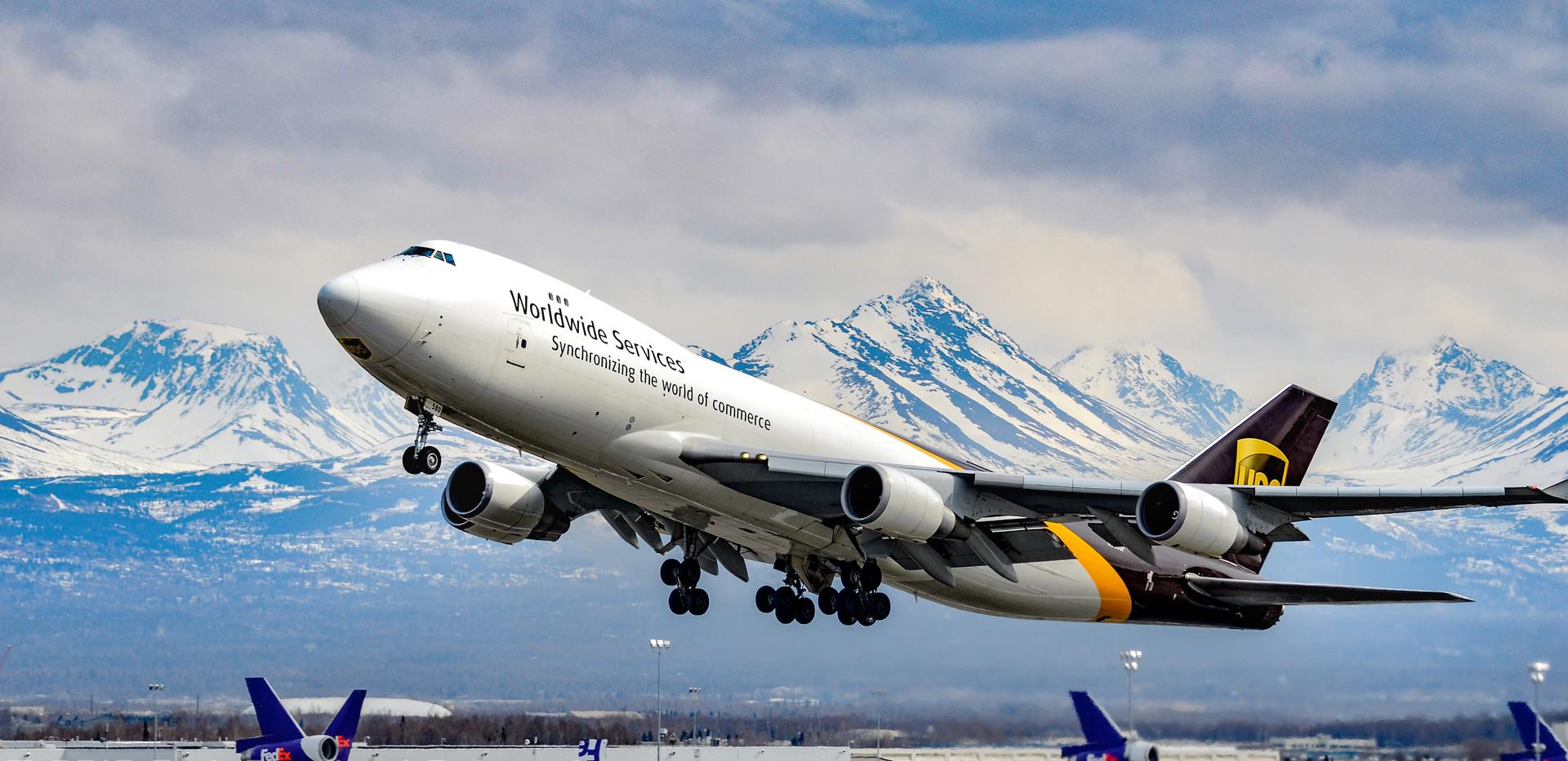UPS Boeing 747-400F at PANC, 2012