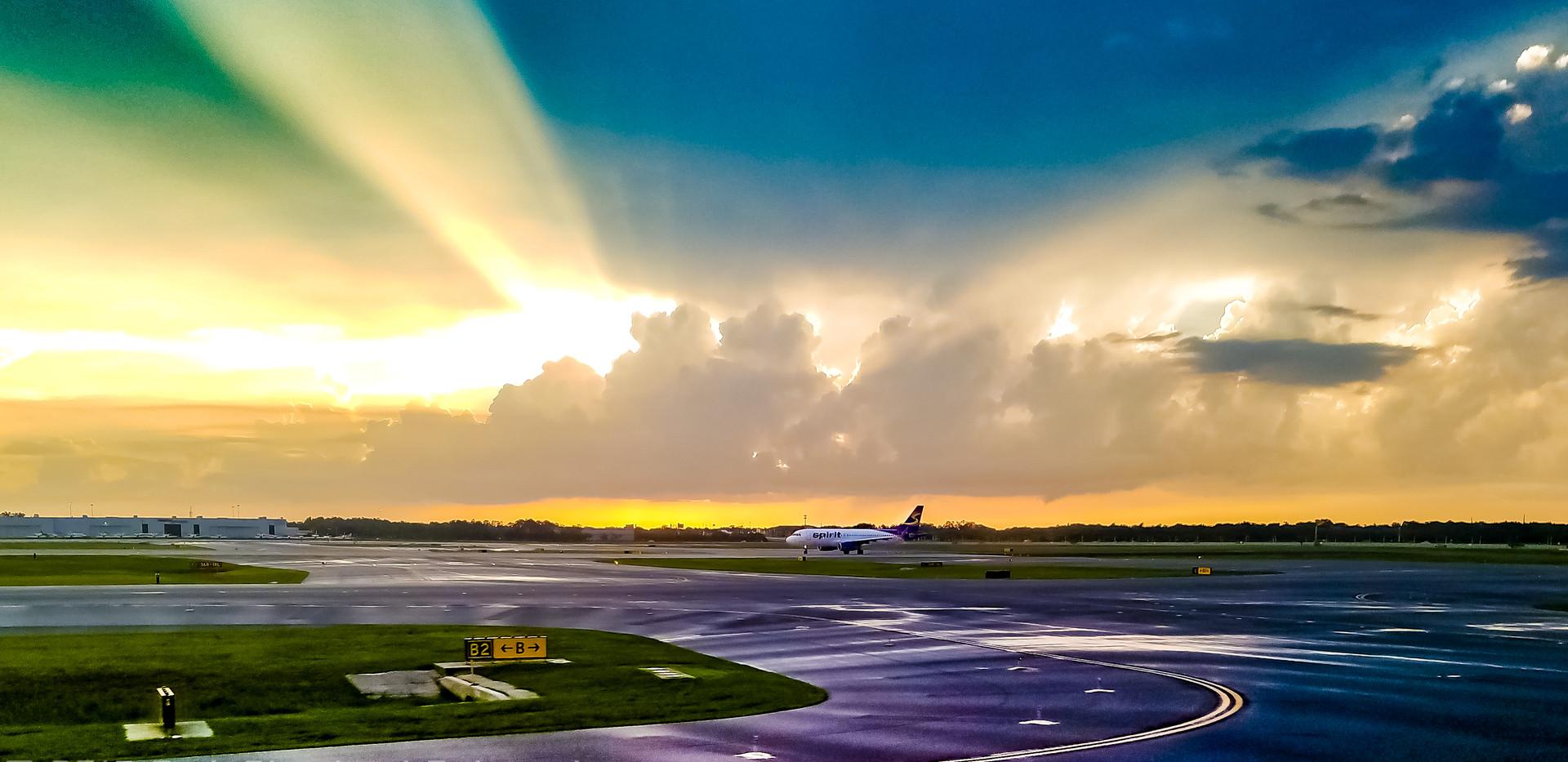 Orlando Airport Summer storm