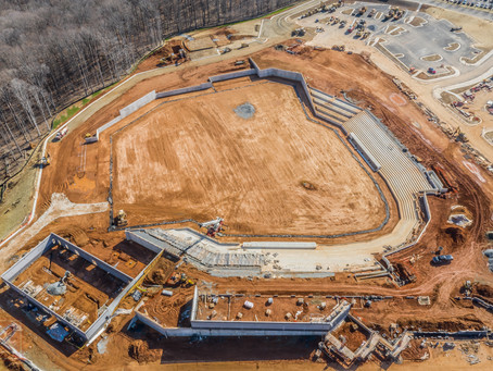 FredNats Ballpark Construction Aerial Imagery Update #7: 9 February 2020