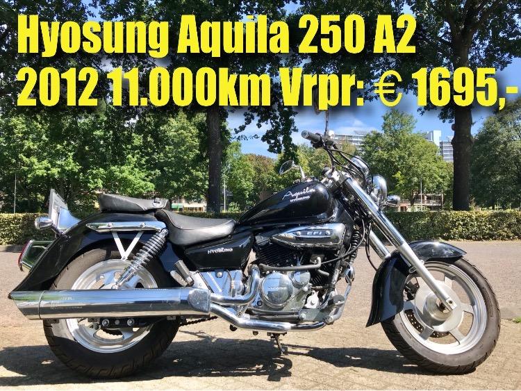Hyosung Aquila 250 2012 11.000km 1695 euro
