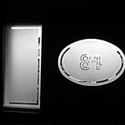 House Number Etched on Glass