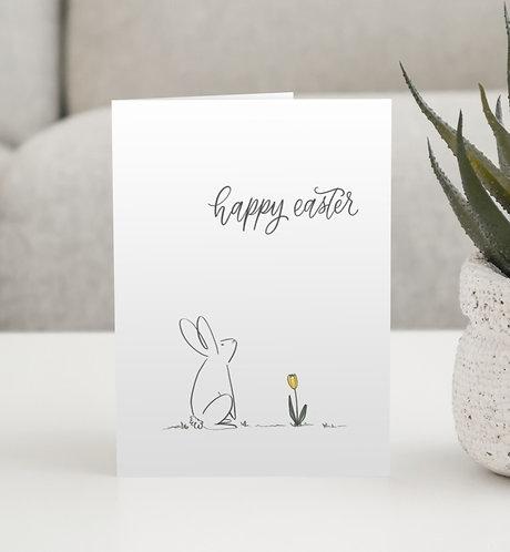 """""""Bunny Easter Card"""" Blank Card"""