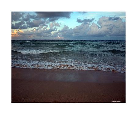 """South Beach Surf at Dusk"" Photography Print"