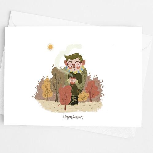"""""""Happy Autumn"""" Blank Card"""