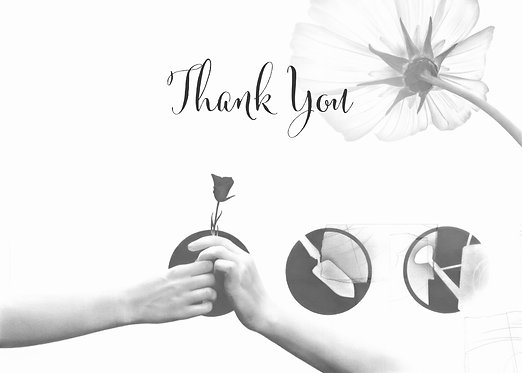 """""""Growing Together""""Blank Thank You Card"""