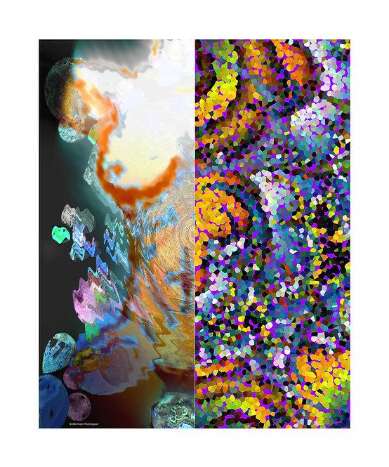 """Split Abstract"" Art Print"