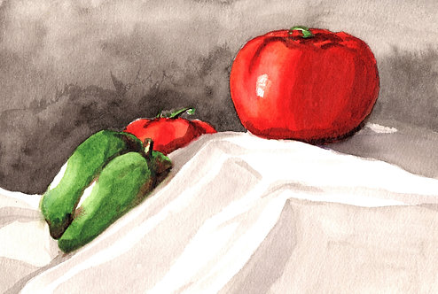 """Vegetable Still Life"" Art Print"