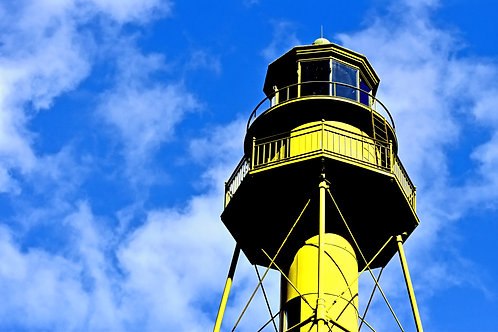 """Yellow Lighthouse"" Art Print"