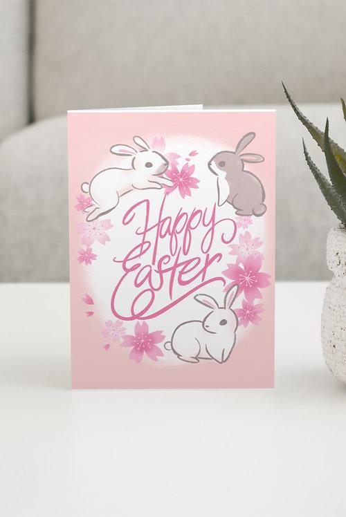 """Cherry Blossom Easter"" Blank Card"