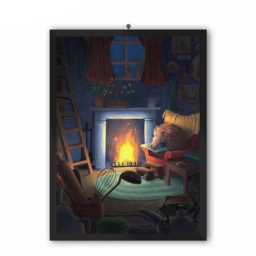 """Cozy Night"" Art Print"