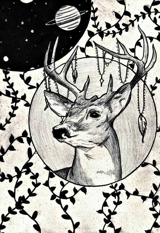 """Stag's Spirit"" Art Print"