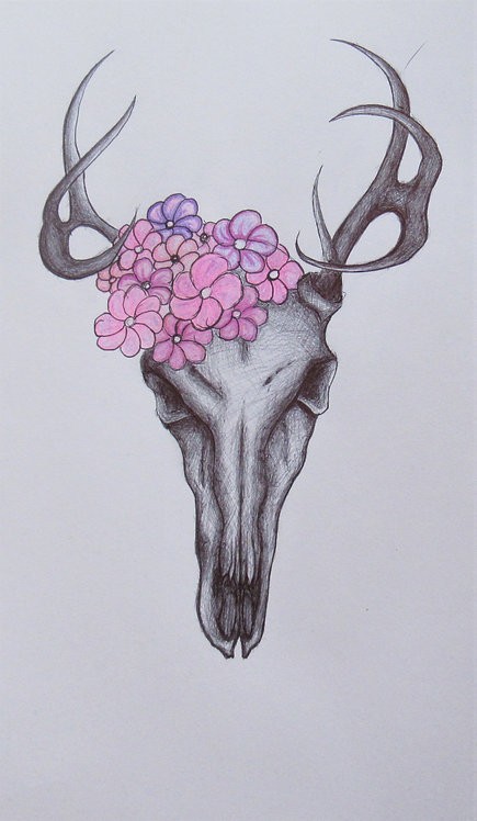 """Floral Stag"" Art Print"