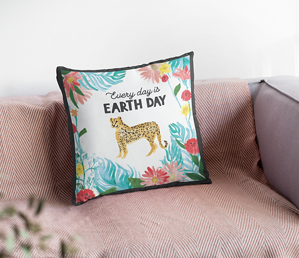"""""""Every Day is Earth Day"""" Pillow Cover"""