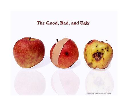 """""""Apple- Good, Bad, & Ugly"""" Photography Print"""