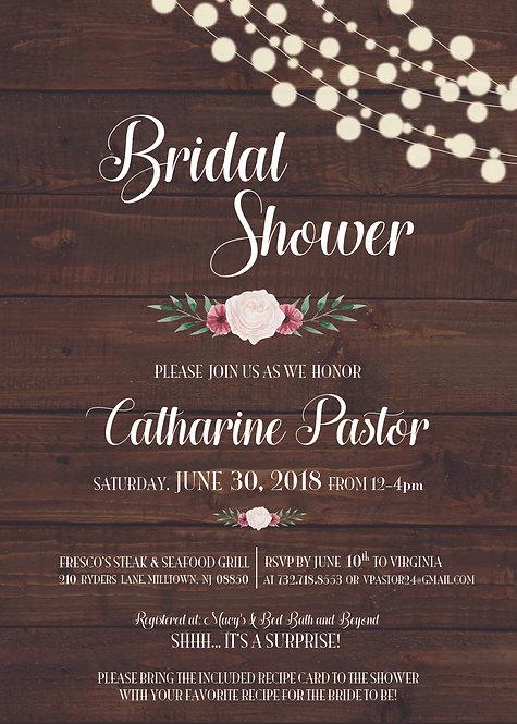 """Bridal Shower"" Wedding Invitation"