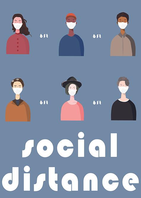 """Social Distance"" Art Print"