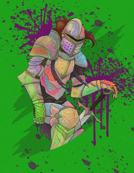 """""""Graffiti Knight"""" Art Print"""