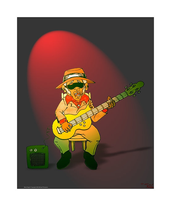 """Blues Singer"" Art Print"