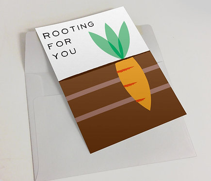 """Rooting For You"" Blank Card"