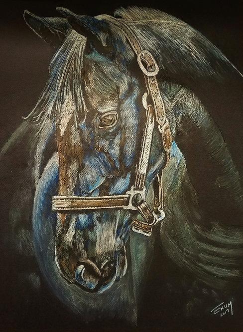 """Blue Gallop"" Art Print"