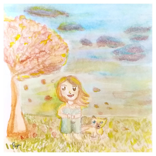 """""""Candy Skies and A Cat"""" Art Print"""