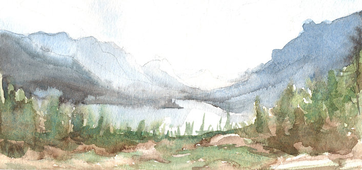 """""""Mountains"""" Art Print"""