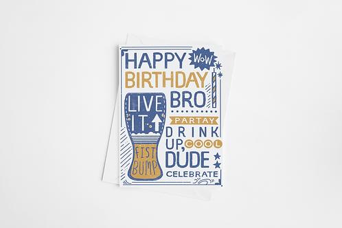 """""""Birthday Bros"""" Blank Birthday Cards"""