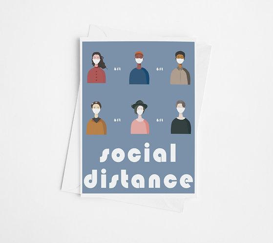 """""""Social Distance"""" Blank Card"""