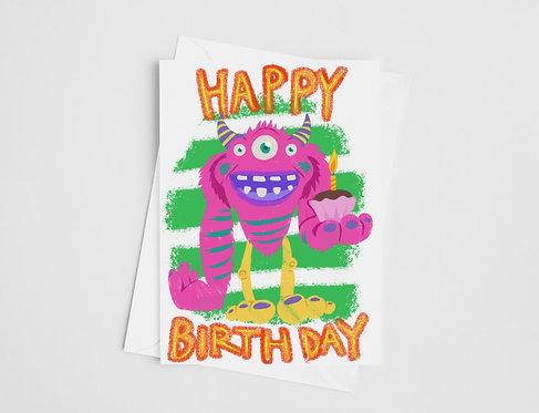 """Happy Birthday Monster"" Birthday Card"