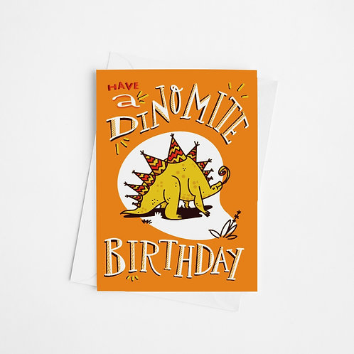 """Dinomite Birthday #1"" Card"