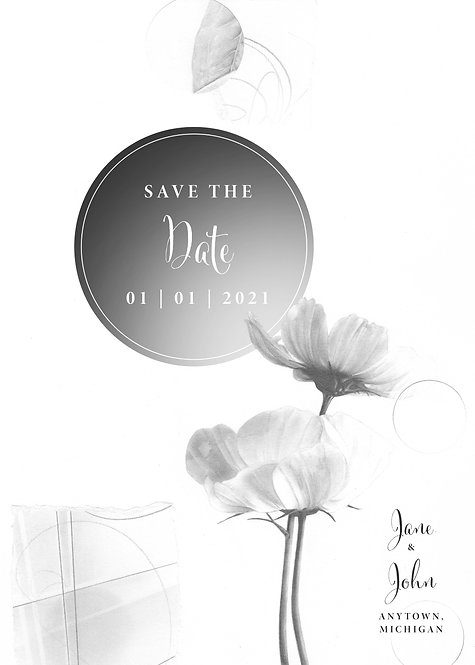 """""""Save The Date"""" Floral Wedding Invitation"""