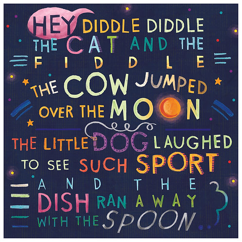 """""""Hey Diddle Diddle"""" Art Print"""