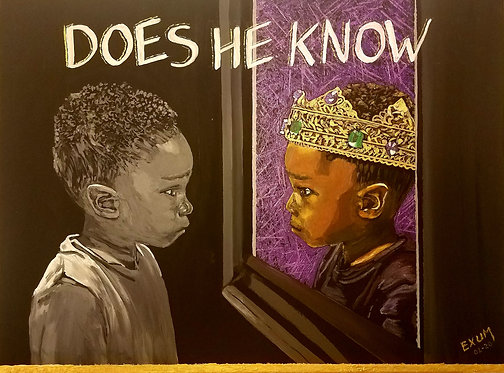 """Does He Know"" Art Print"