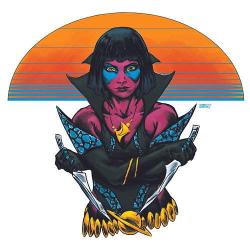 """""""Cosmic Warrior 1"""" Art Print"""