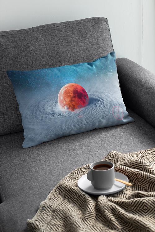 """""""Typhoon Moon"""" Lumbar Pillow Cover"""