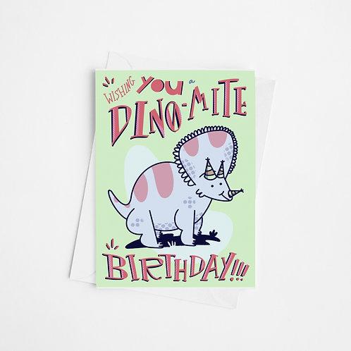 """Dinomite Birthday #2"" Card"