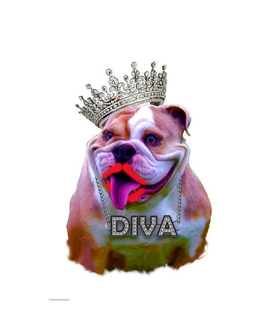 """Diva Dog"" Art Print"
