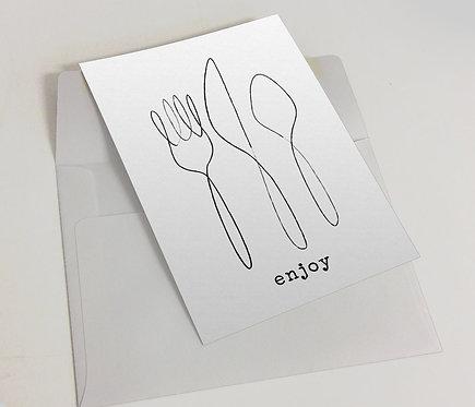 """""""Enjoy"""" Blank Card"""