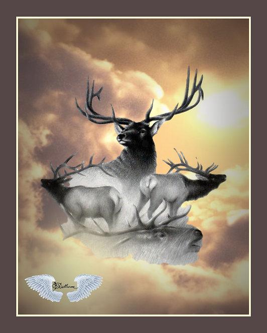 """""""Elk Relm"""" Art Print"""