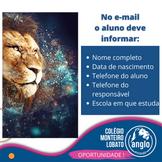 CONCURSO DE BOLSAS PARA ALUNOS DO 9º EF! Clique no banner e veja os detalhes.