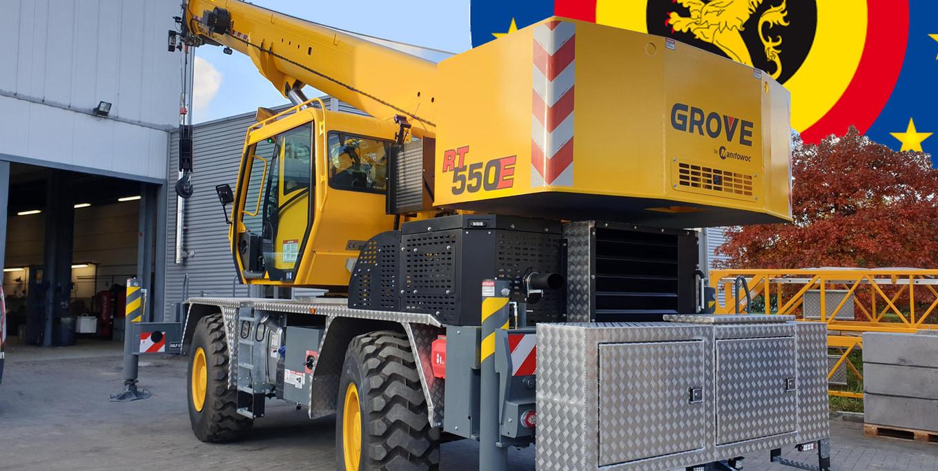Levering van een nieuwe Grove RT550 E