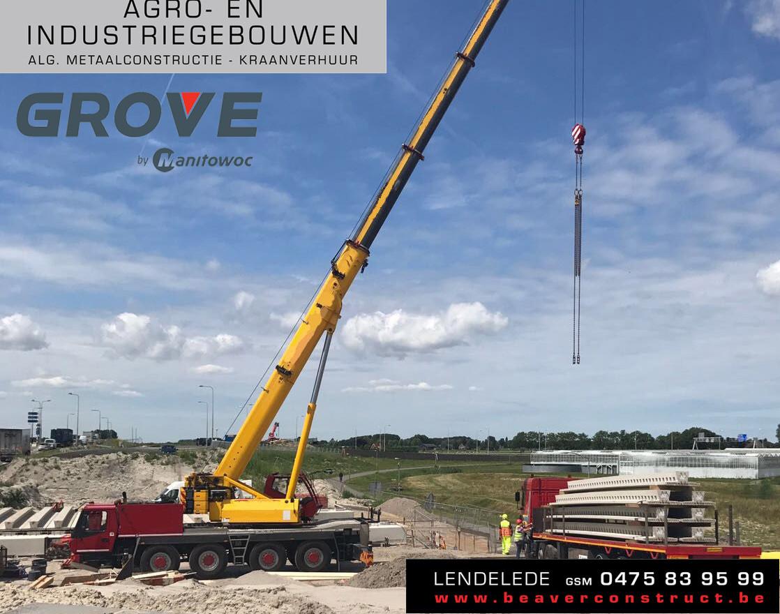 Een tweedehands Grove GMK 4080-1 voor Beaver Construct